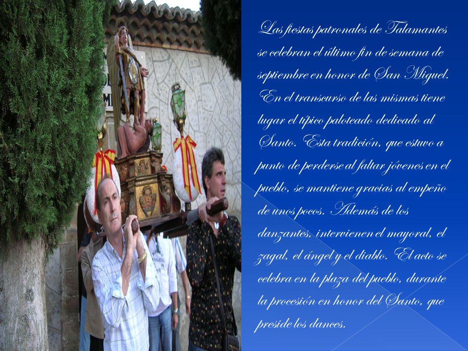 Las fiestas patronales de Talamantes se celebran el último fin de semana de septiembre en honor de San Miguel.