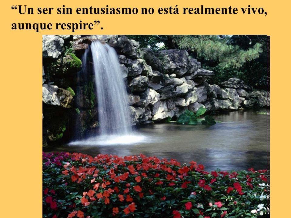Un ser sin entusiasmo no está realmente vivo, aunque respire .