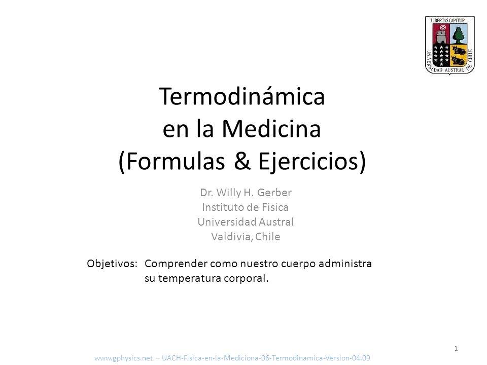 Termodinámica en la Medicina (Formulas & Ejercicios)