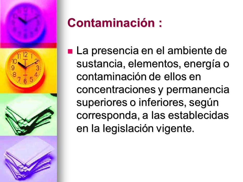 Contaminación :