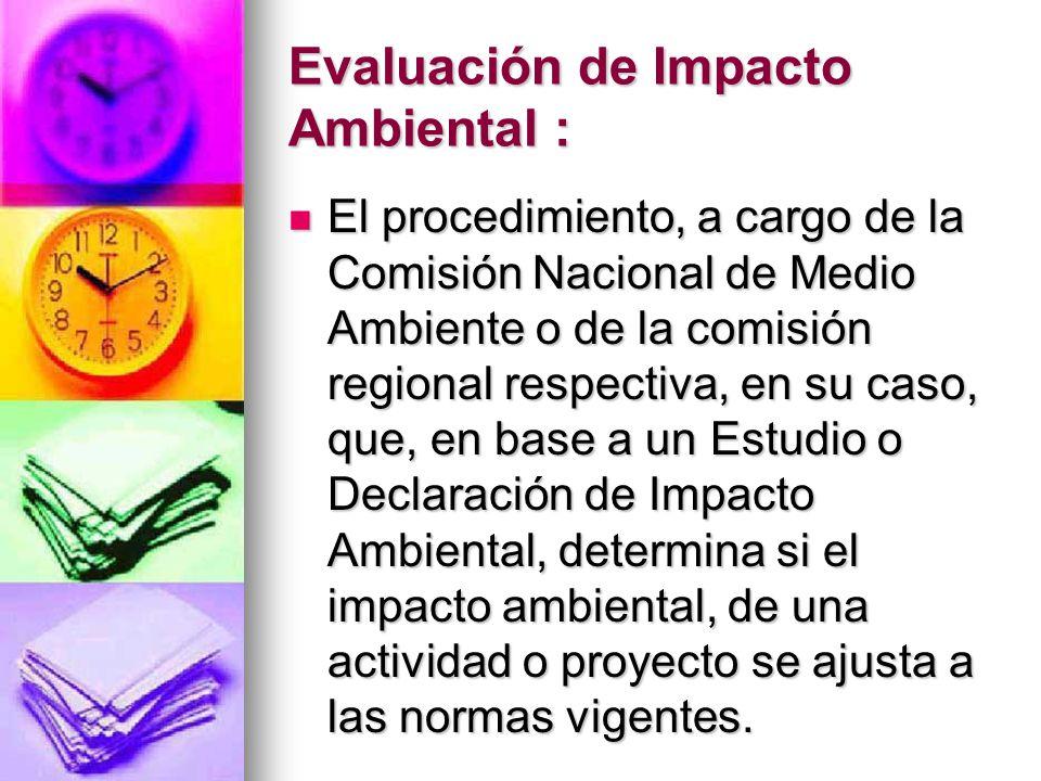 Evaluación de Impacto Ambiental :