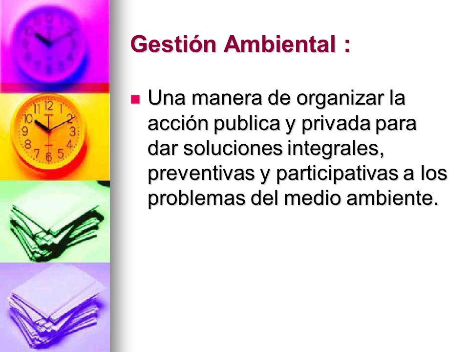 Gestión Ambiental :