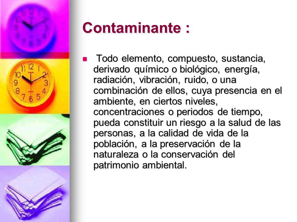 Contaminante :