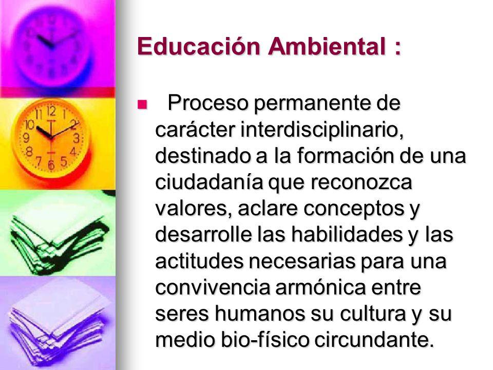 Educación Ambiental :