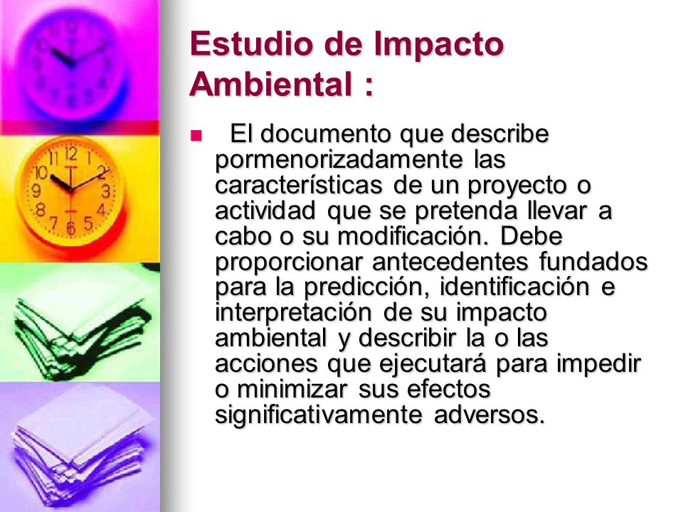 Estudio de Impacto Ambiental :
