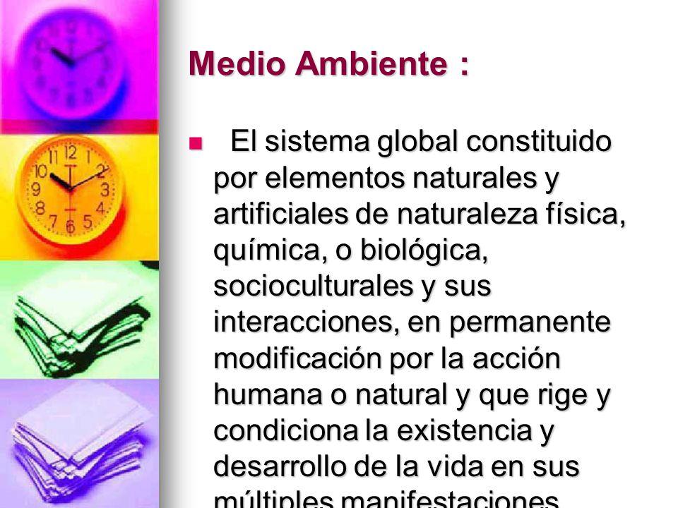 Medio Ambiente :