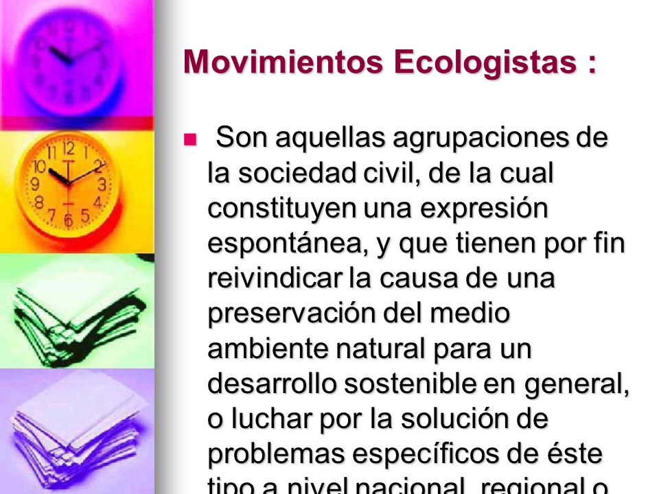 Movimientos Ecologistas :