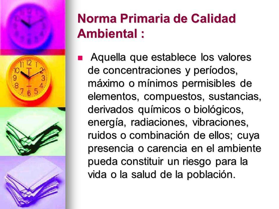 Norma Primaria de Calidad Ambiental :