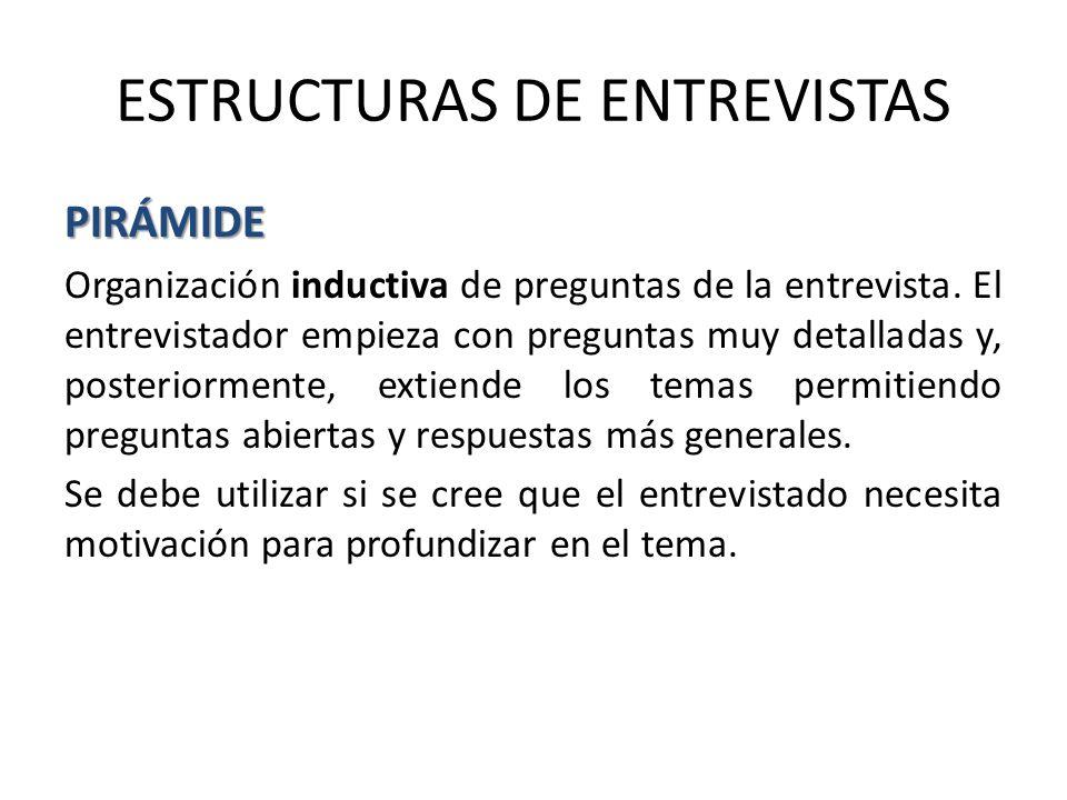 ESTRUCTURAS DE ENTREVISTAS