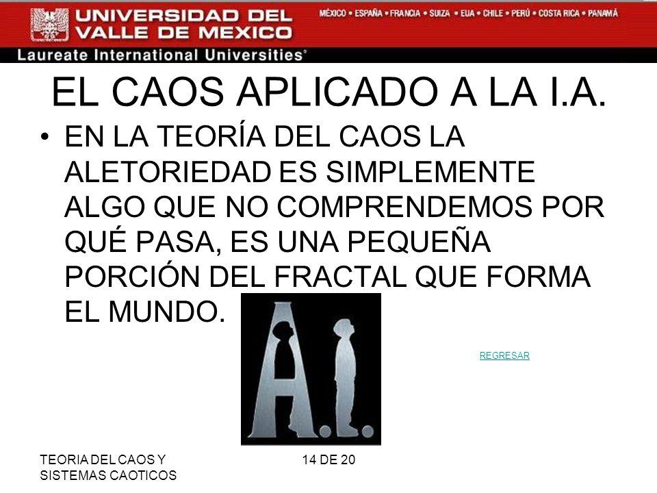 EL CAOS APLICADO A LA I.A.