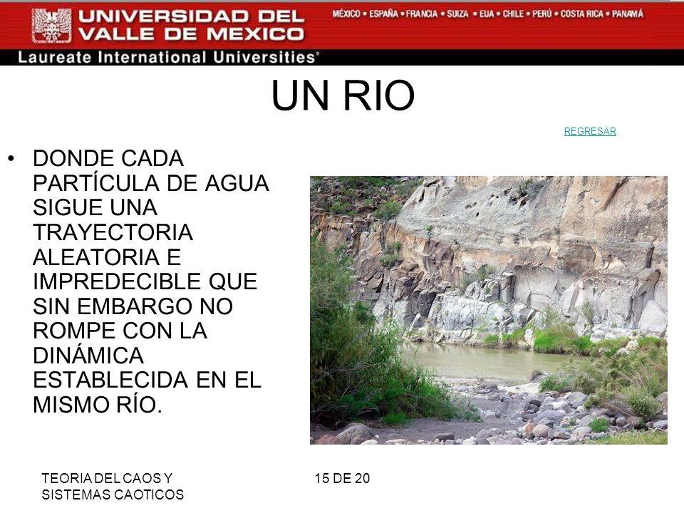UN RIO REGRESAR.