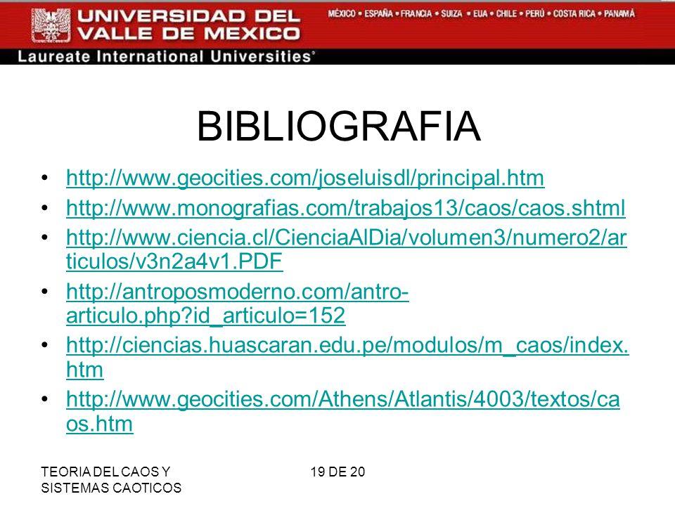 BIBLIOGRAFIA http://www.geocities.com/joseluisdl/principal.htm