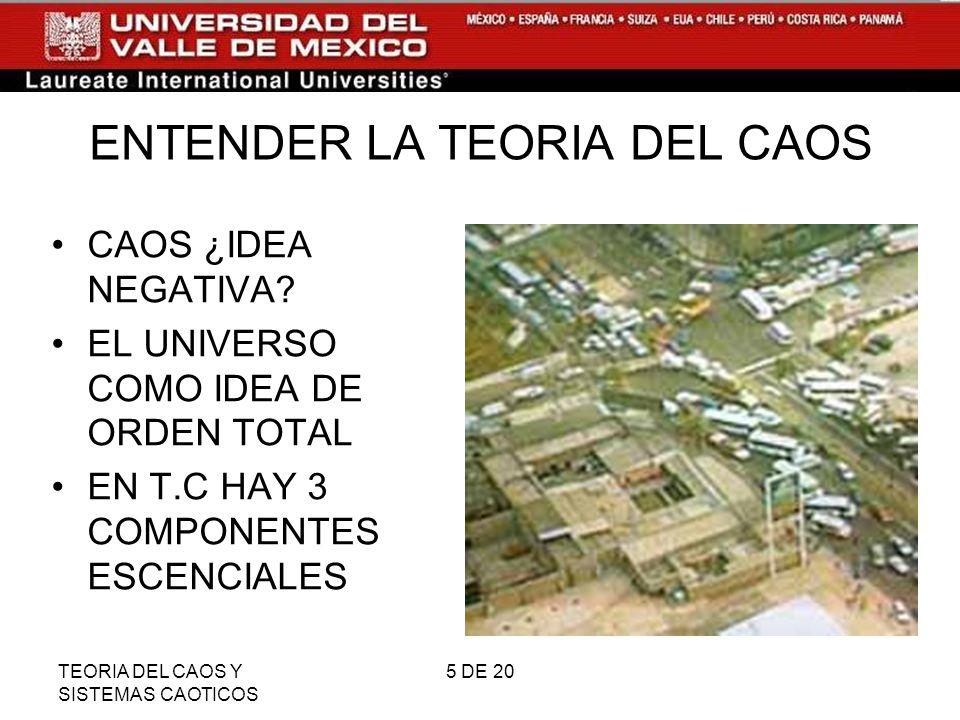 ENTENDER LA TEORIA DEL CAOS
