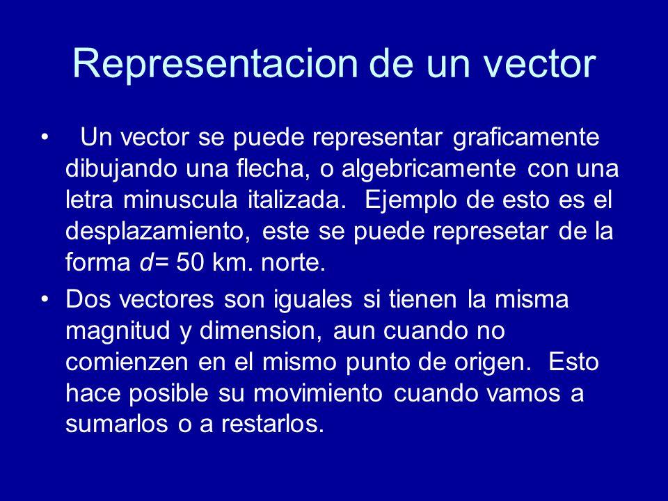 Representacion de un vector