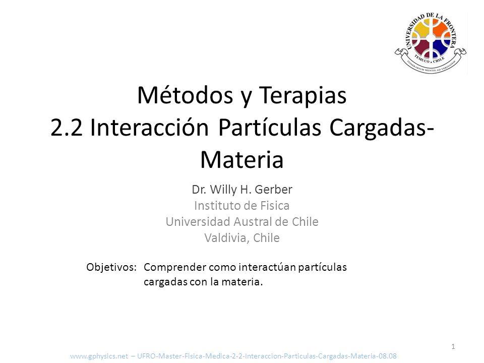 Métodos y Terapias 2.2 Interacción Partículas Cargadas-Materia