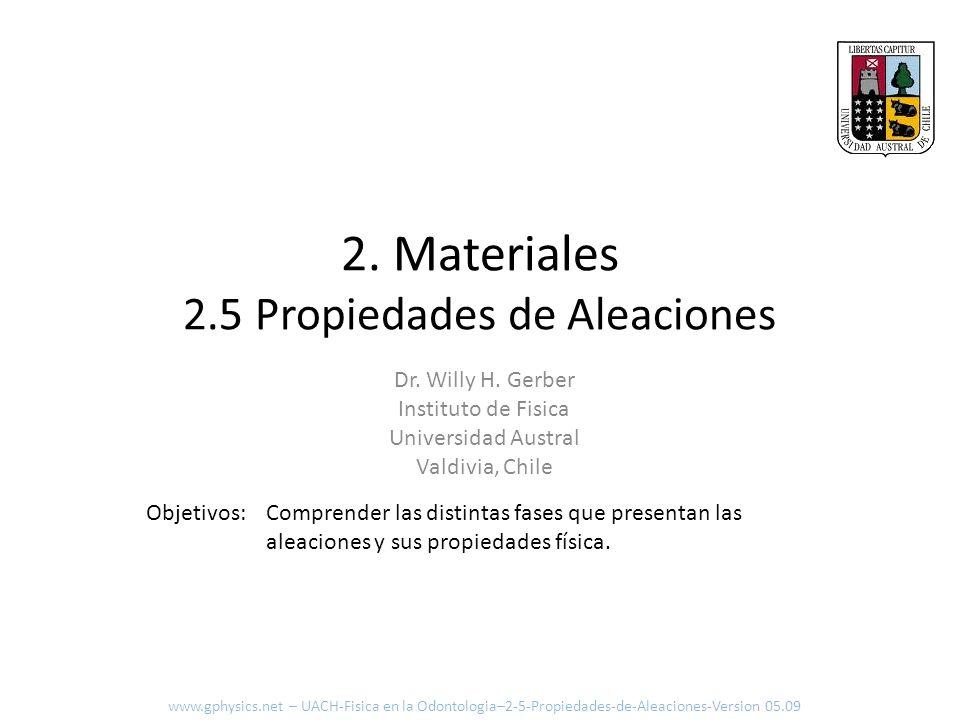 2. Materiales 2.5 Propiedades de Aleaciones