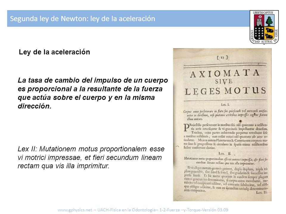 Segunda ley de Newton: ley de la aceleración