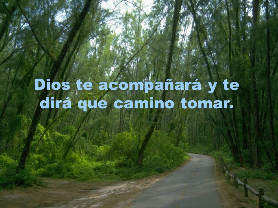 Dios te acompañará y te dirá que camino tomar.