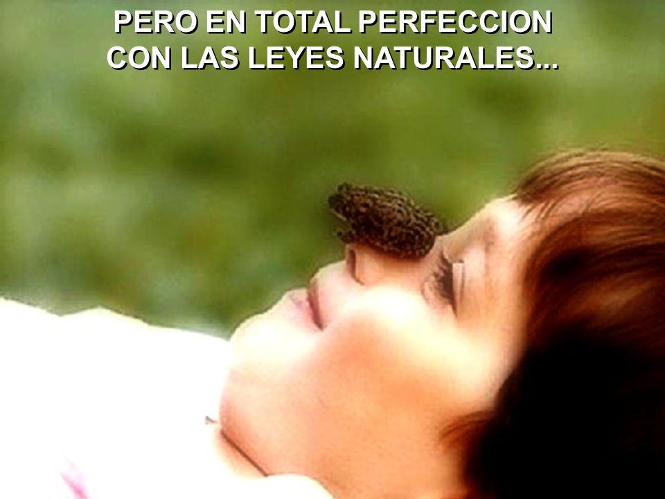 PERO EN TOTAL PERFECCION CON LAS LEYES NATURALES...