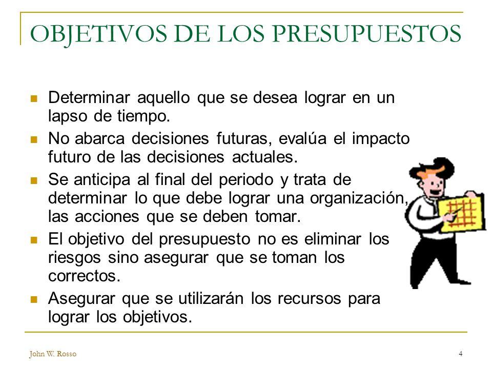 OBJETIVOS DE LOS PRESUPUESTOS