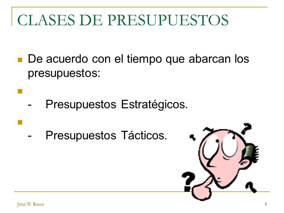 CLASES DE PRESUPUESTOS
