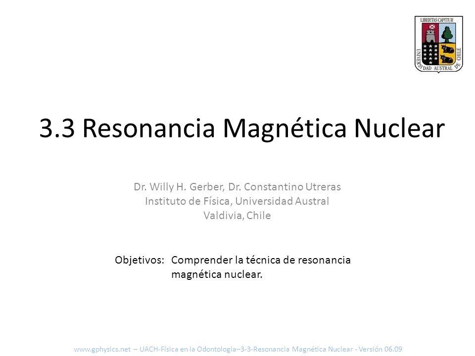 3.3 Resonancia Magnética Nuclear