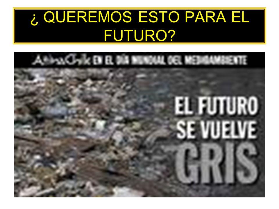¿ QUEREMOS ESTO PARA EL FUTURO