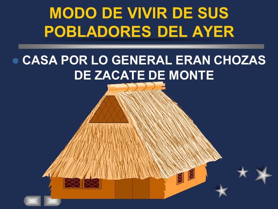 MODO DE VIVIR DE SUS POBLADORES DEL AYER
