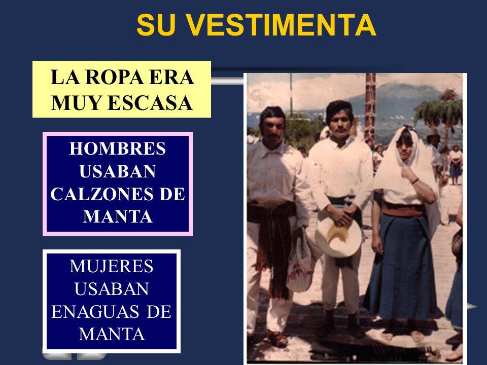 HOMBRES USABAN CALZONES DE MANTA