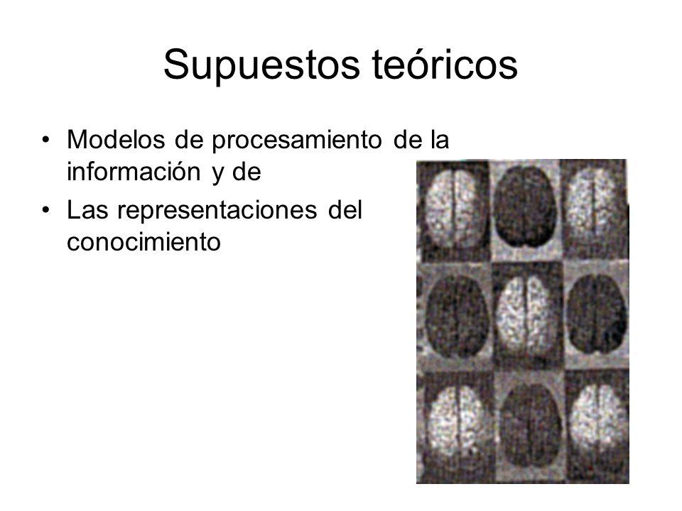 Supuestos teóricos Modelos de procesamiento de la información y de