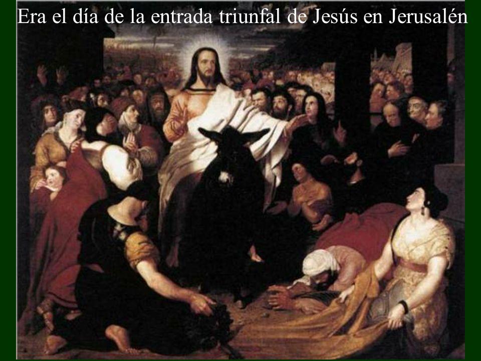 Era el día de la entrada triunfal de Jesús en Jerusalén