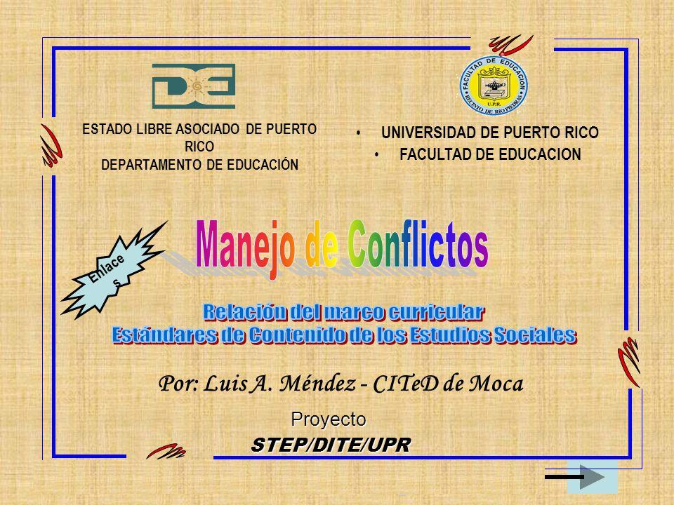 Manejo de Conflictos Relación del marco curricular