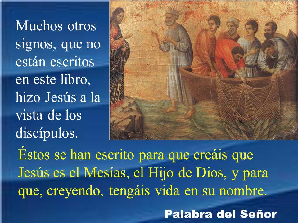 Muchos otros signos, que no están escritos en este libro, hizo Jesús a la vista de los discípulos.