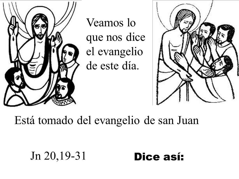 Veamos lo que nos dice el evangelio de este día.