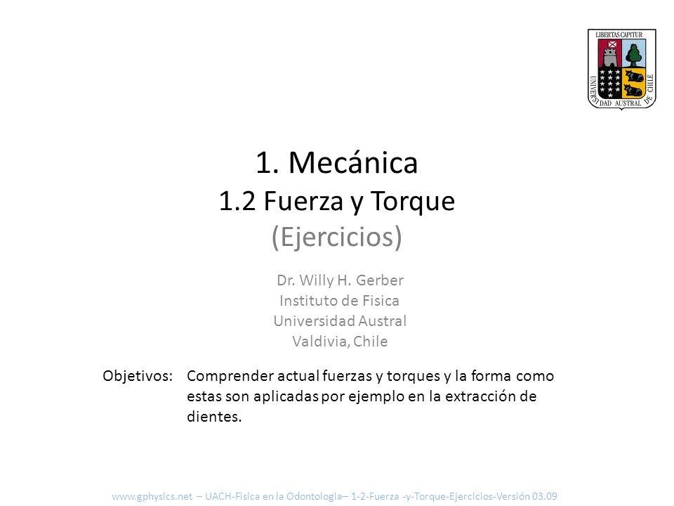 1. Mecánica 1.2 Fuerza y Torque (Ejercicios)