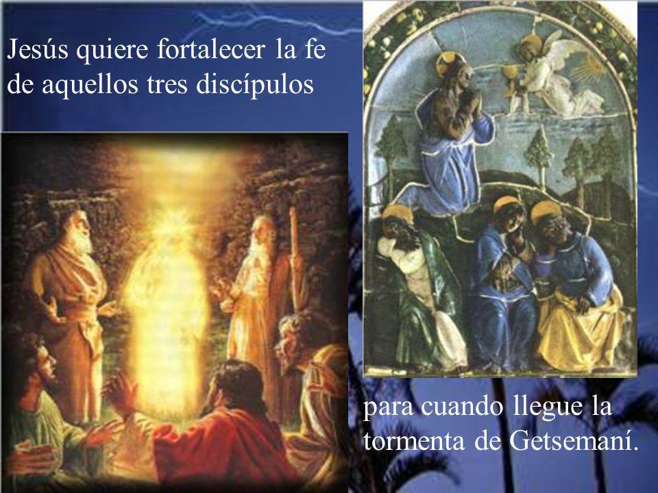 Jesús quiere fortalecer la fe de aquellos tres discípulos