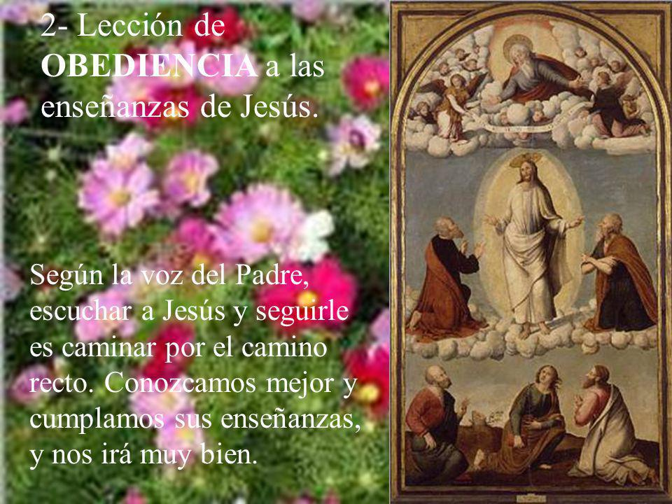 2- Lección de OBEDIENCIA a las enseñanzas de Jesús.