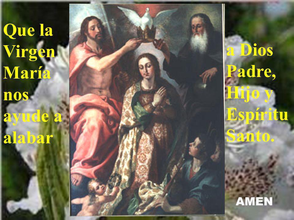 Que la Virgen María nos ayude a alabar