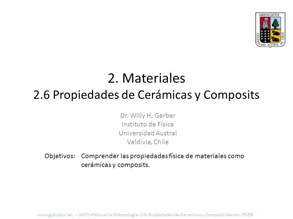 2. Materiales 2.6 Propiedades de Cerámicas y Composits