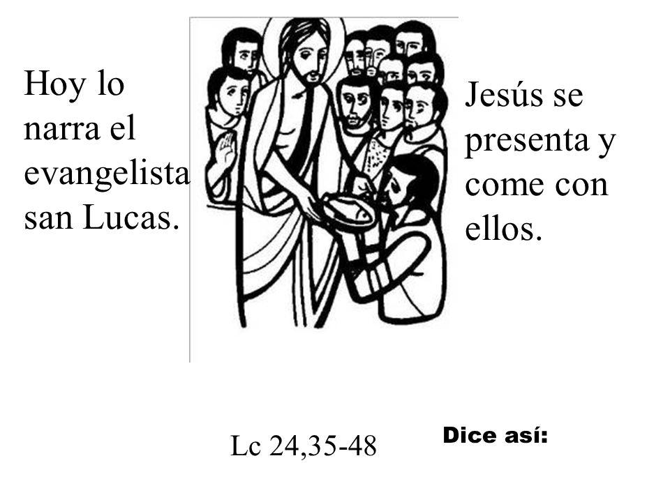 Hoy lo narra el evangelista san Lucas.