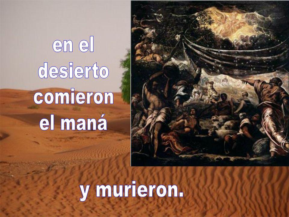 en el desierto comieron el maná y murieron.