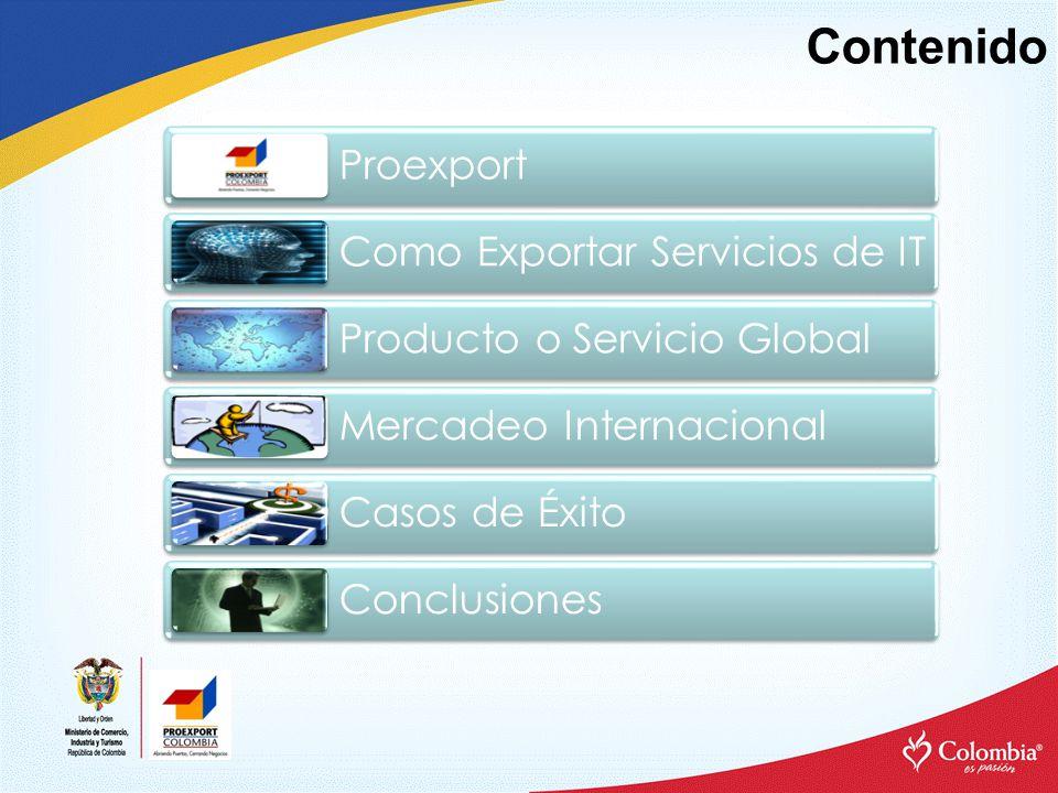 Contenido Proexport Como Exportar Servicios de IT