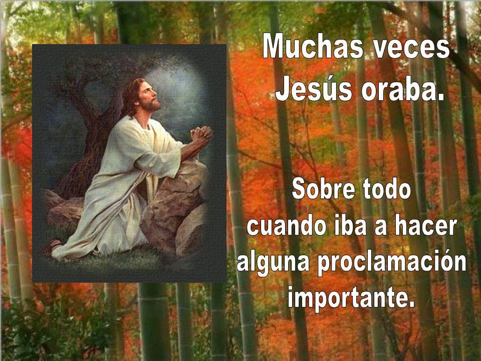 Muchas veces Jesús oraba. Sobre todo cuando iba a hacer alguna proclamación importante.