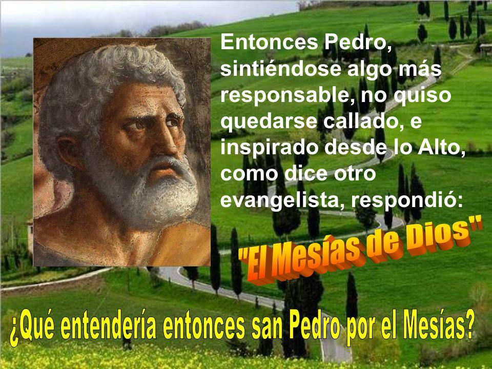 ¿Qué entendería entonces san Pedro por el Mesías