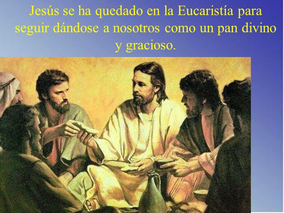 Jesús se ha quedado en la Eucaristía para seguir dándose a nosotros como un pan divino y gracioso.