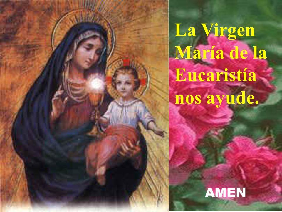 La Virgen María de la Eucaristía nos ayude.