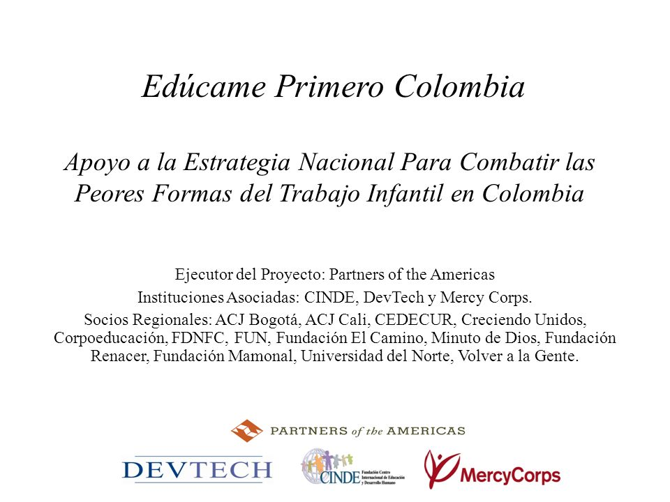 Edúcame Primero Colombia