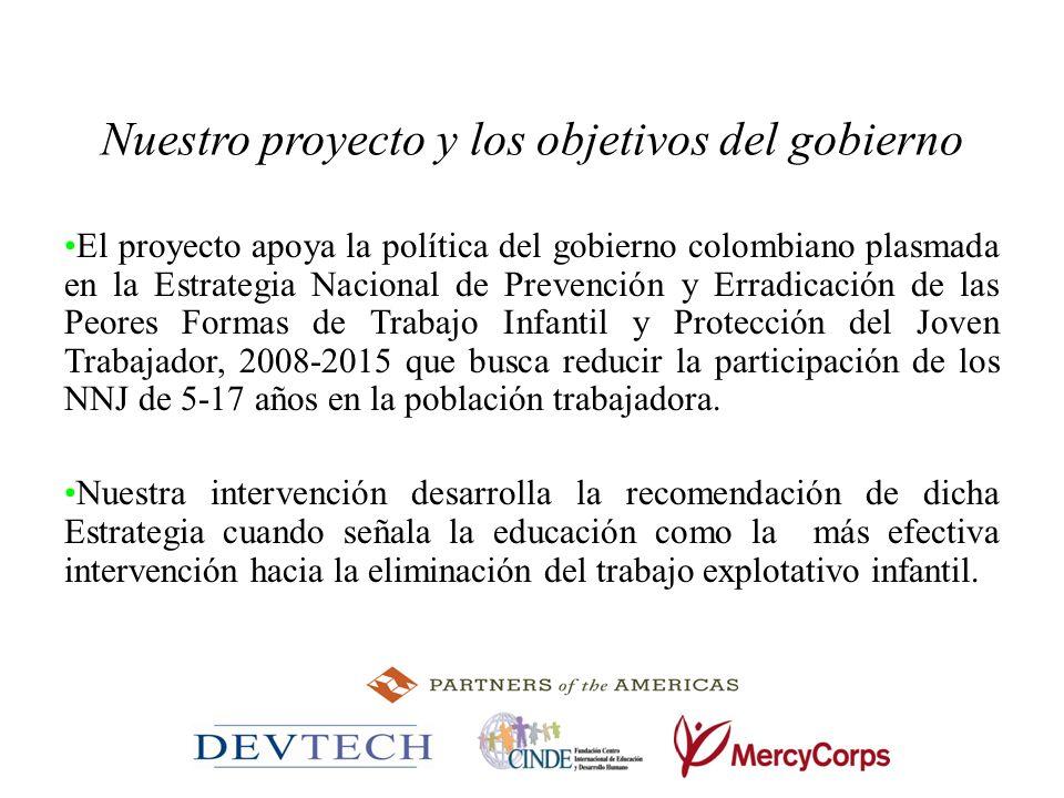 Nuestro proyecto y los objetivos del gobierno