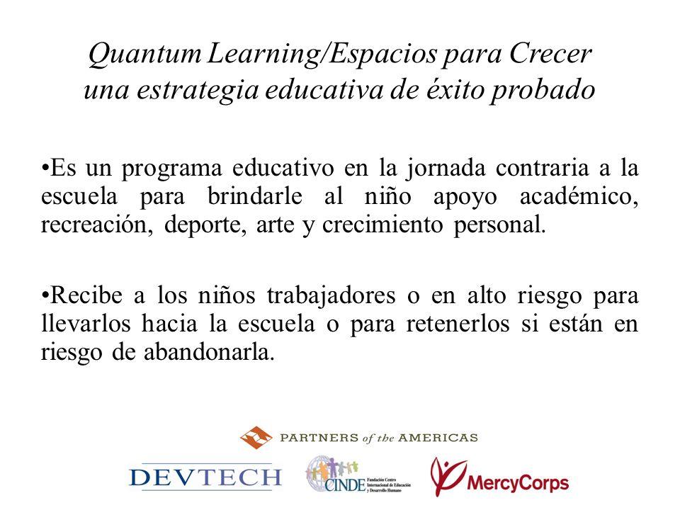 Quantum Learning/Espacios para Crecer una estrategia educativa de éxito probado