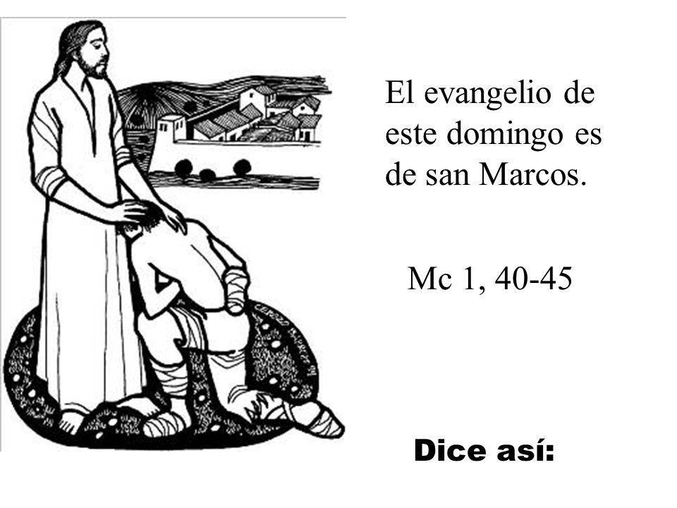 El evangelio de este domingo es de san Marcos.
